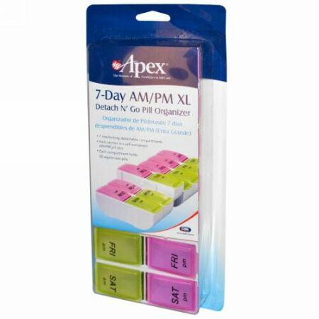 Apex, 7-Day AM/PM XL、1ピル・オーガナイザー