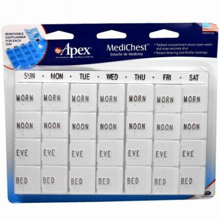 Apex, メディチェスト(MediChest)、ビタミン & 薬オーガナイザー