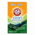 Arm & Hammer, Clean Scentsations、シート型柔軟剤、クリーンマウンテン、100枚 (Discontinued Item)
