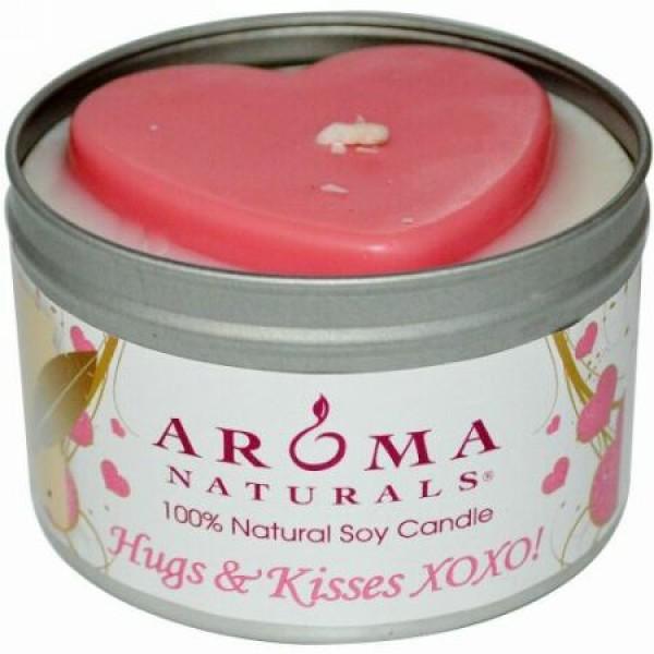Aroma Naturals, 100% 天然ソイ・キャンドル、ハグ & キス XOXO!、6.5 オンス (Discontinued Item)