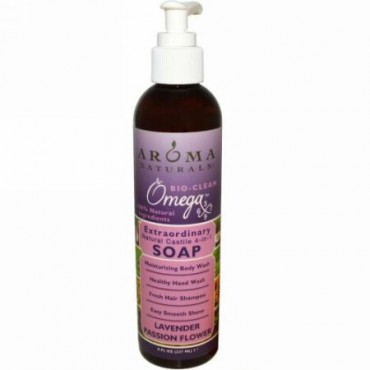 Aroma Naturals, 4-in-1 Soap, Lavender Passion Flower, 8 fl oz (237 ml) (Discontinued Item)