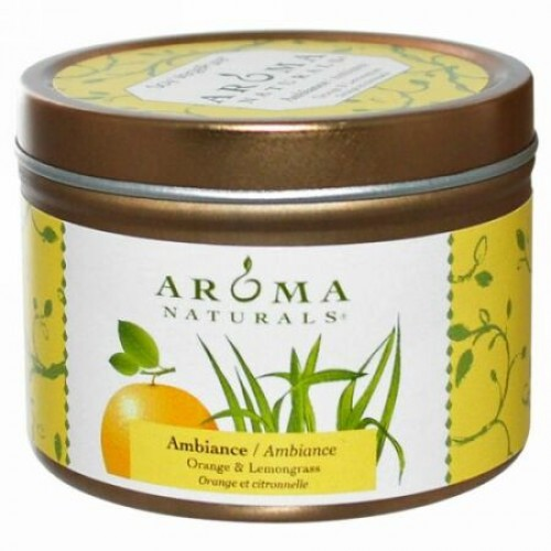 Aroma Naturals, ソイ ベジピュア, アンビアンス, オレンジ & レモングラス, 2.8 oz (79.38 g)