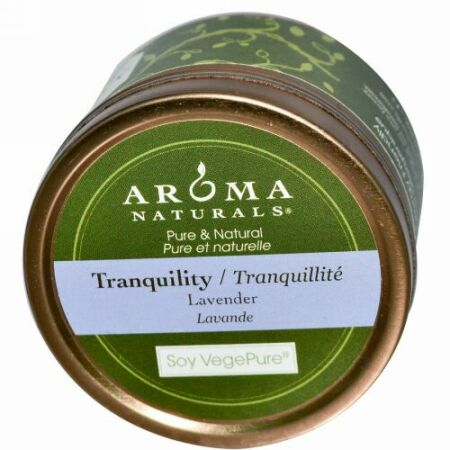 Aroma Naturals, ソイベジピュア、 静寂、 トラベルキャンドル、 ラベンダー、 2.8オンス (79.38 g)