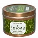 Aroma Naturals, 大豆 ベジピュア、 活性、 トラベル キャンドル、 ペパーミント & ユーカリ、 2.8 oz (79.38 g)