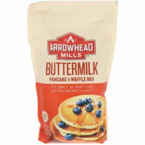 Arrowhead Mills, バターミルク、ホットケーキ&ワッフルミックス、737g(1.6℔)