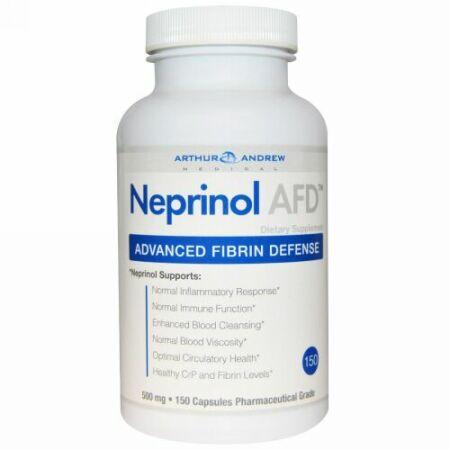 Arthur Andrew Medical, Neprinol AFD、フィブリンによる高度な防衛、500 mg、150カプセル