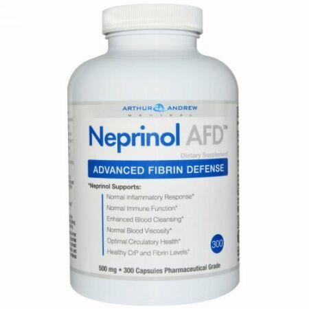 Arthur Andrew Medical, ネプリノールAFD, アドバンスド フィブリン ディフェンス, 500 mg, カプセル 300粒
