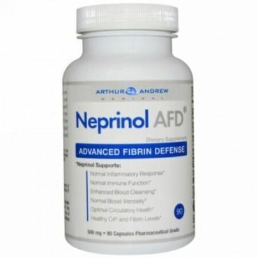 Arthur Andrew Medical, ネプリノール(Neprinol)AFD、フィブリンによる高度な保護、500 mg、90 錠