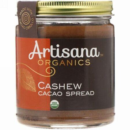 Artisana, カシューナッツ カカオスプレッド、 8 oz (227 g)