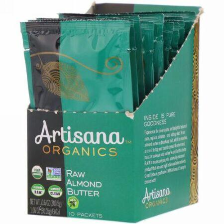 Artisana, 生のアーモンドナッツバター, 10パケット, 各1.06オンス(30.05 g)