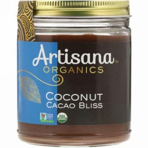 Artisana, オーガニック, 生のココナッツ カカオブリス, ナッツバター, 8オンス(227 g)