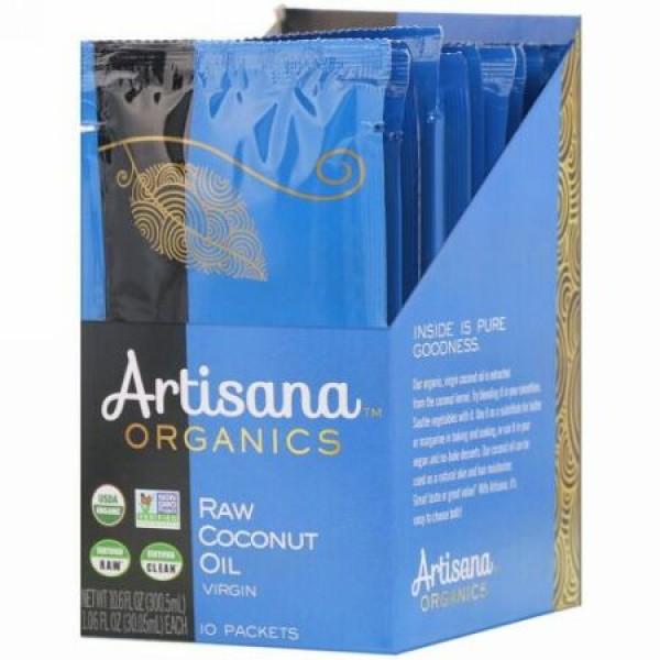 Artisana, 有機生ココナッツオイル, 10パケット, 各1.06液量オンス(30.05 ml) (Discontinued Item)