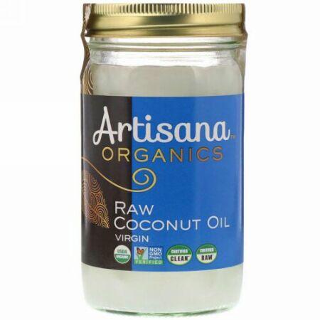 Artisana, オーガニックス、生ココナッツオイル、バージン、14 液量オンス (414 g)