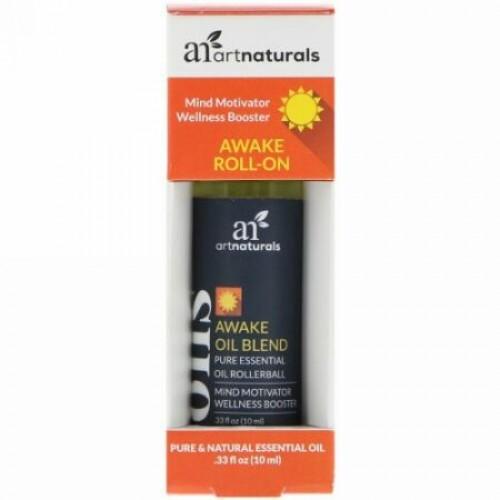 Artnaturals, アウェイクロールオン、.33 fl oz (10 ml) (Discontinued Item)