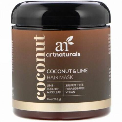 Artnaturals, ココナッツ・ライムのヘアマスク、8 oz (226 g) (Discontinued Item)