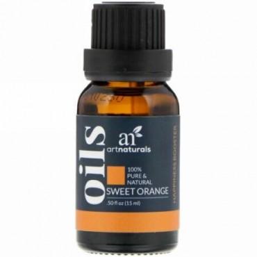 Artnaturals, スウィートオレンジオイル、0.50オンス(15ml)