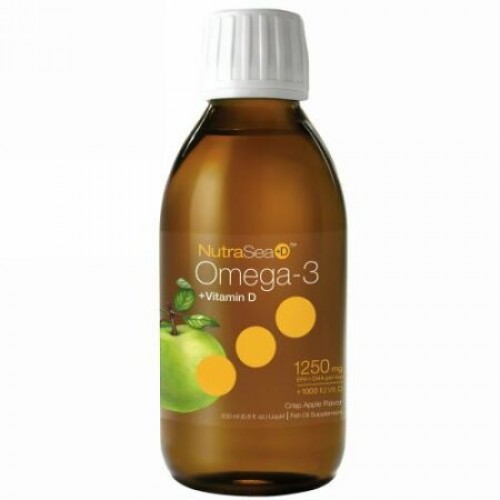 Ascenta, ニュートラシー+ D、 オメガ-3 + ビタミン D、クリスプアップル味、6.8 fl oz (200 ml) 液体