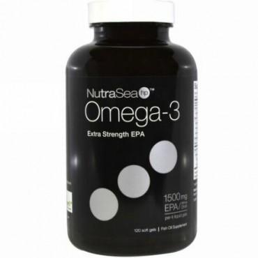 Ascenta, ニュートラシー(NutraSea)hp, オメガ3, 超強力EPA, レモン風味, 120ソフトゼリー