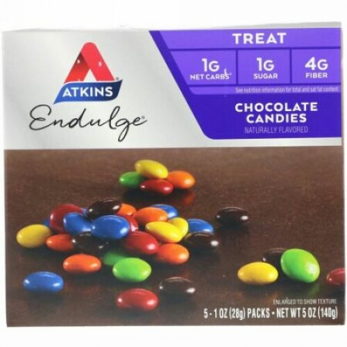 Atkins, Endulge(エンダルジ)、チョコレートキャンディー、5袋、各28g(1オンス)
