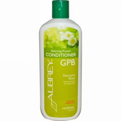 Aubrey Organics, GPB バランシング・プロティン・コンディショナー, ローズマリー・ペパーミント, ノーマル, 11 fl oz (325 ml) (Discontinued Item)