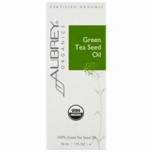 Aubrey Organics, オーガニック、グリーンティーシードオイル、1液量オンス (30 ml) (Discontinued Item)