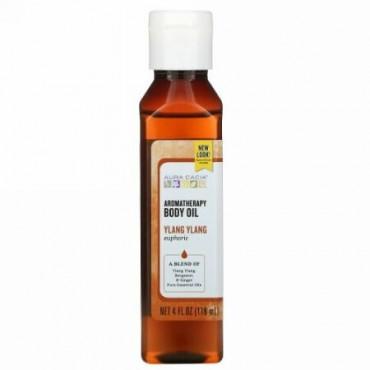 Aura Cacia, アロマテラピー・ボディオイル、 ユーフォリックイランイラン、 4液量オンス (118 ml)