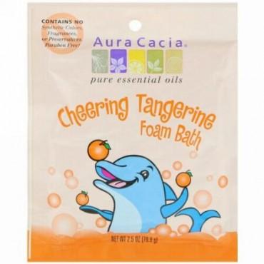 Aura Cacia, Cheering Foam Bath, Tangerine, 2.5 oz (70.9 g) (Discontinued Item)