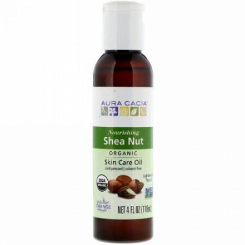 Aura Cacia, Organic, Skin Care Oil, Shea Nut, 4 fl oz (118 ml) (Discontinued Item)