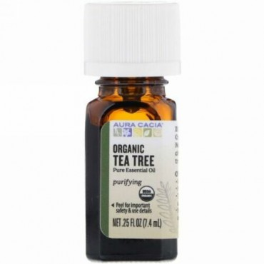 Aura Cacia, Organic、Tea Tree、0.25 fl oz (7.4 ml)
