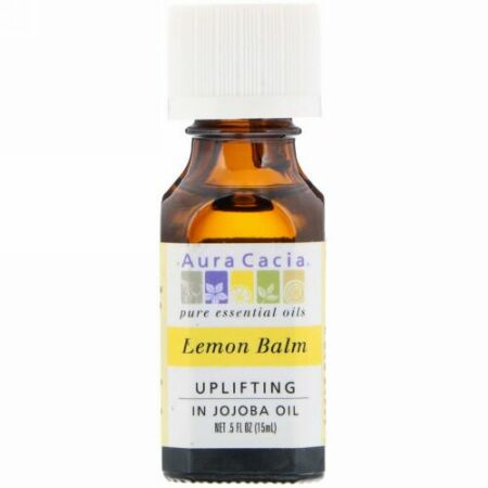 Aura Cacia, レモン・バーム、アップリフティング、.5 液量オンス (15 ml)