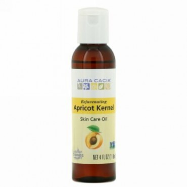 Aura Cacia, Skin Care Oil, Rejuvenating Apricot Kernel, 4 fl oz (118 ml)