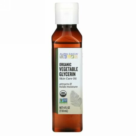 Aura Cacia, オーガニック, スキンケア, 植物性のグリセリン, 4液量オンス (118 ml)