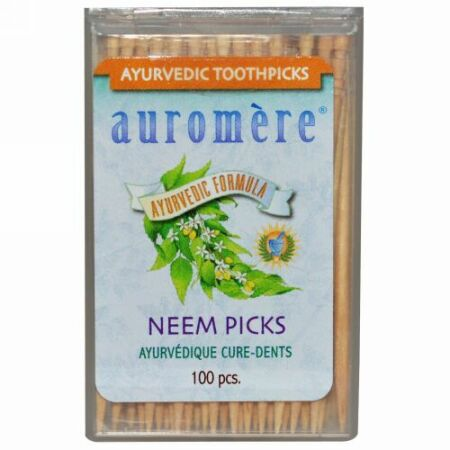 Auromere, Ayurvedic Toothpicks、Neem Picks、100本