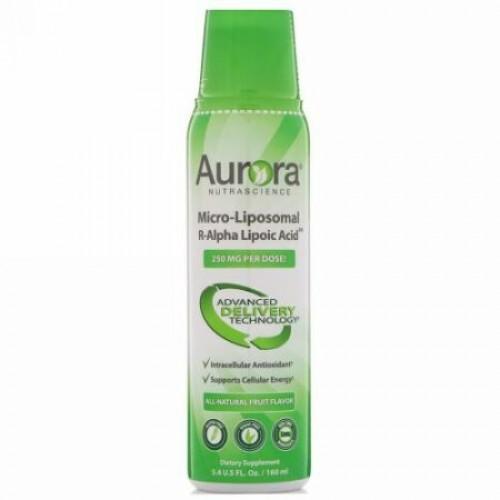 Aurora Nutrascience, マイクロリポソームRアルファリポ酸、天然フルーツ味、250mg、5.4 fl oz (160 ml) (Discontinued Item)