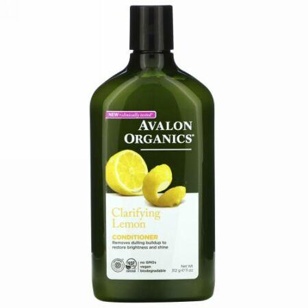 Avalon Organics, コンディショナー, クラリファイング レモン, 11 fl oz (325 ml)