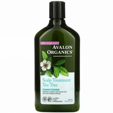 Avalon Organics, コンディショナー、頭皮のトリートメント ティーツリー、11 oz (312 g)