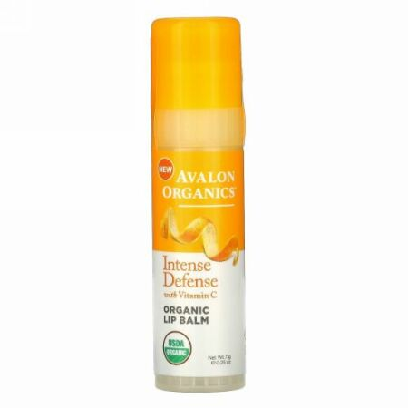 Avalon Organics, Vitamin C Renewal, Soothing Lip Balm, .25 oz (7 g)