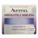 Aveeno, アブソルートリーエイジレス、回復ナイトクリーム、1.7オンス (48 g)