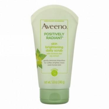 Aveeno, Active Naturals(アクティブナチュラルズ)、Positively Radiant(ポジティブリーラディアント)、スキンブライトニングデイリースクラブ、140g
