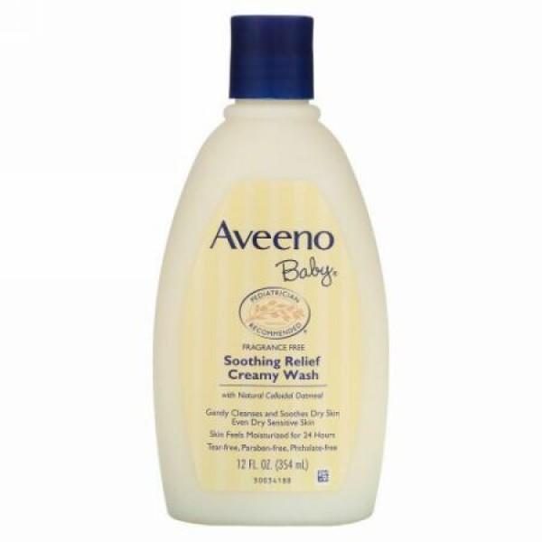Aveeno, ベイビー、 リラックスリリーフ クリーミーウォッシュ、 無香、 12 fl oz (354 ml)