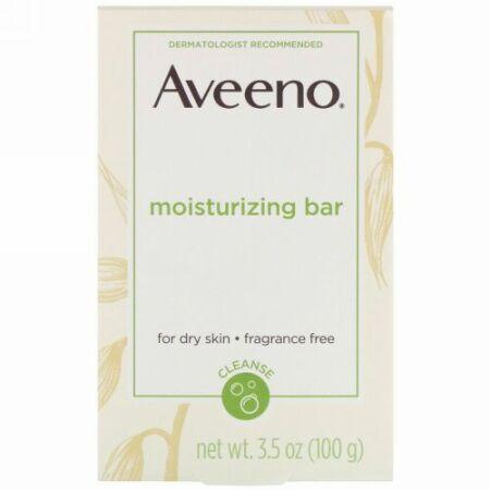 Aveeno, アクティブナチュラルズ®, モイスチャライジングバー, 無香料, 3.5 オンス (100 g)