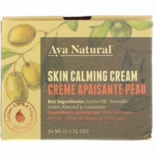 Aya Natural, スキン カーミング クリーム、1.7 fl oz (50 ml) (Discontinued Item)