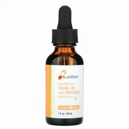 Azelique, Serumdipity エイジングケア ペプチド配合フェイシャルオイル フェイシャルセラム 1 fl oz (30 ml)