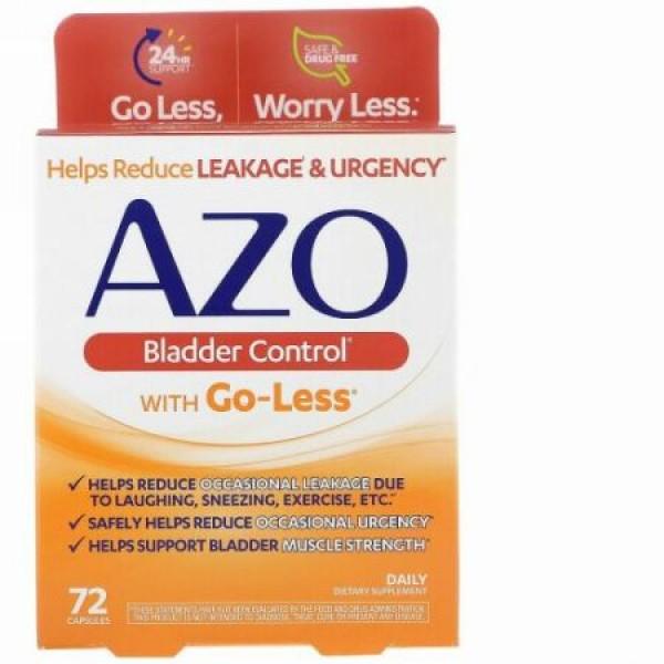Azo, Go-Less入り膀胱コントロールサプリ、カプセル72粒