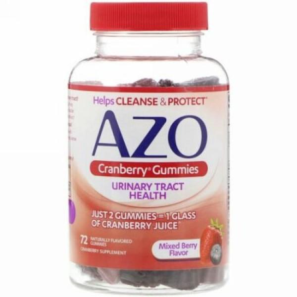 Azo, クランベリーグミ、ミックスベリー風味、天然風味のグミ72個