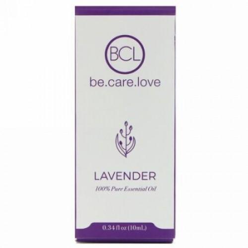 BCL, Be Care Love, 100%ピュアエッセンシャルオイル、ラベンダー、0.34液量オンス (10 ml) (Discontinued Item)