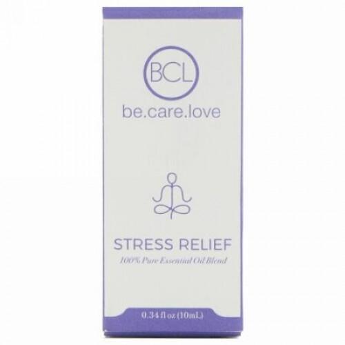 BCL, Be Care Love, 100%ピュアエッセンシャルオイルブレンド、ストレス緩和、0.34液量オンス (10 ml) (Discontinued Item)