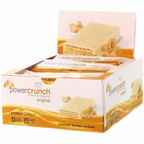 BNRG, パワークランチエネルギープロテインバー、オリジナルピーナツバタークリーム、12本、各1.4オンス (40 g)
