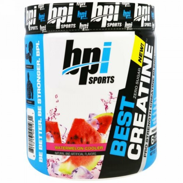 BPI Sports, Best Creatine Pro Strength Creatine Blend, Watermelon Cooler 10.58 oz (300 g) (Discontinued Item)