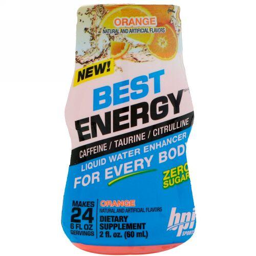 BPI Sports, ベストエナジー、リキッドウォーターエンハンサー、オレンジ、2 fl oz (60 ml) (Discontinued Item)